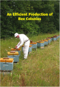 A beekeeper checking on his beehives